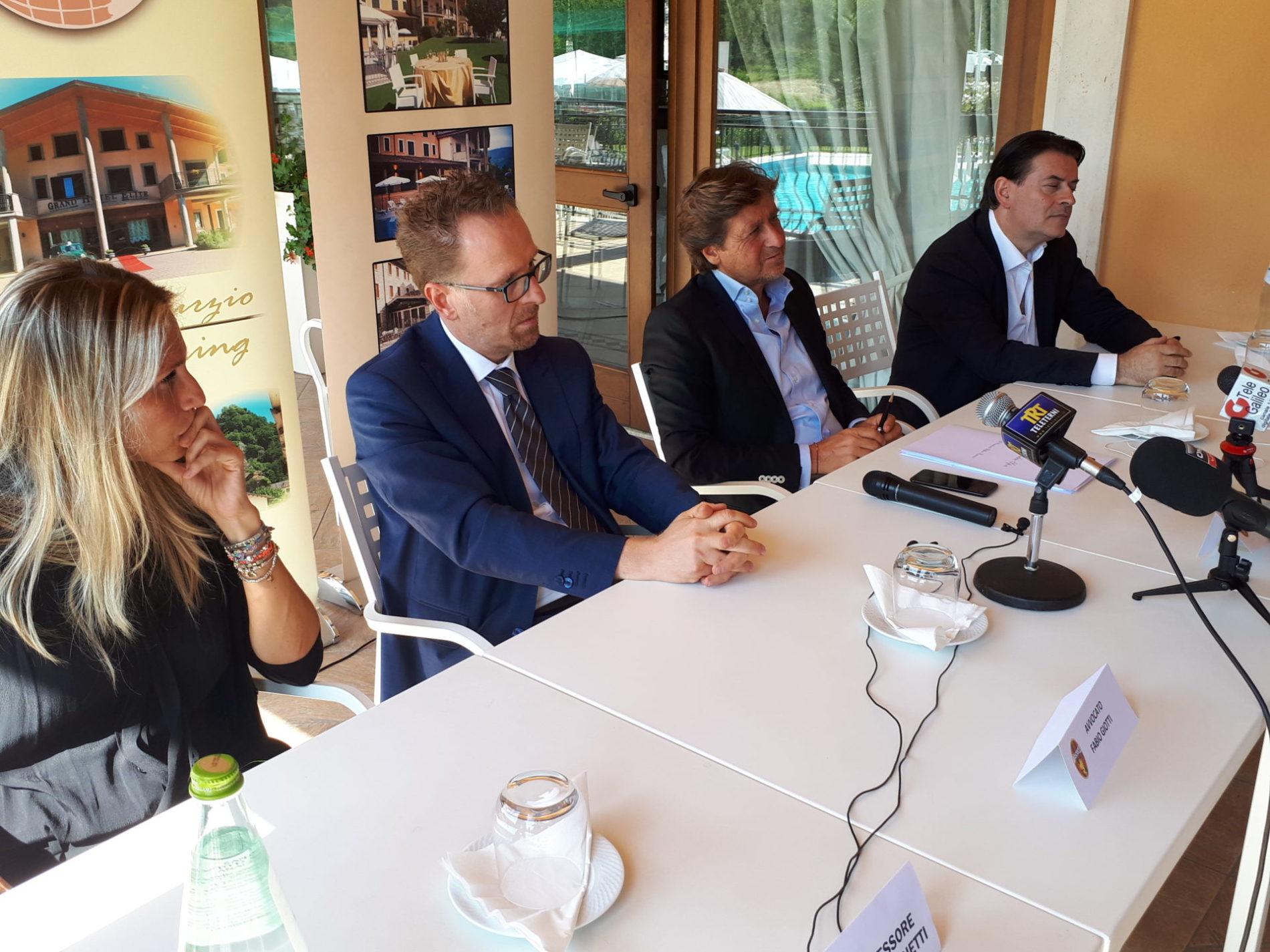 Avvocati Giotti e Massimo Proietti presidente Ranucci assessore Proietti