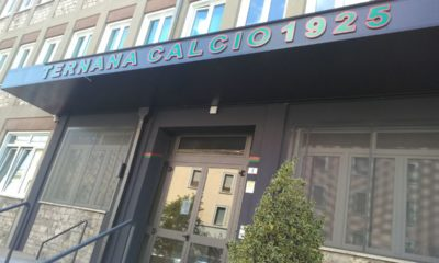 L'ingresso della sede della Ternana in via della Bardesca