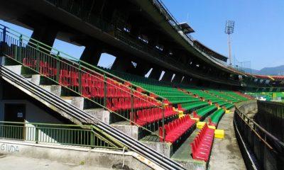 La tribuna dello Stadio Liberati