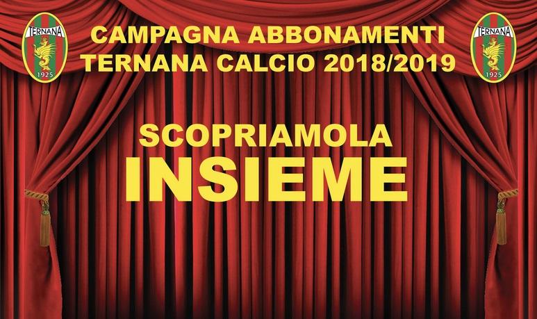pagina apparsa sul sito della Ternana per annunciare la campagna abbonamenti